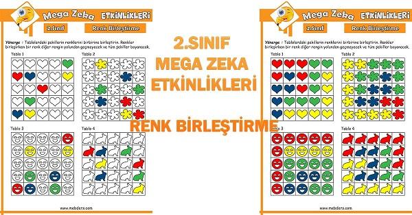2.Sınıf Mega Zeka Etkinliği - Renk Birleştirme