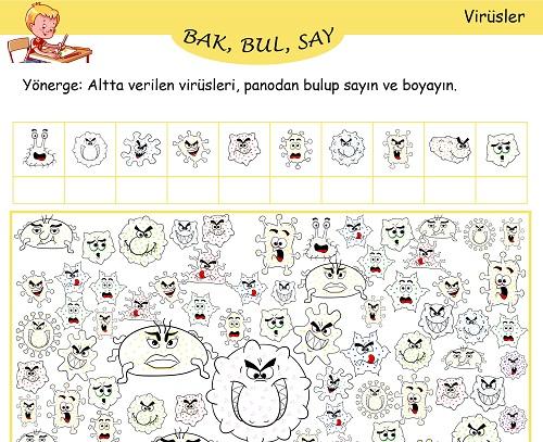 Bak, Bul, Say Etkinliği - Virüsler