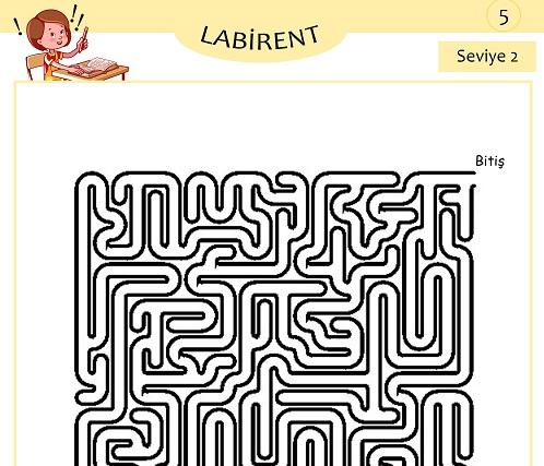 Seviye 2 - Labirent Bulmaca Etkinliği 5