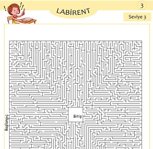 Seviye 3 - Labirent Bulmaca Etkinliği 3