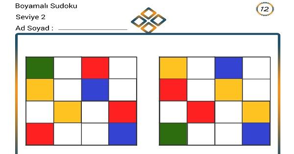 Boyamalı Sudoku 12