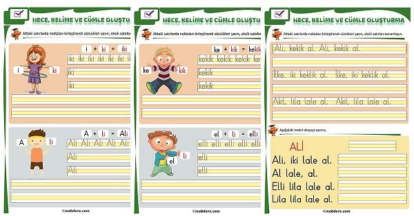 1.Sınıf İlk Okuma İ Sesi Birleştirme Etkinliği