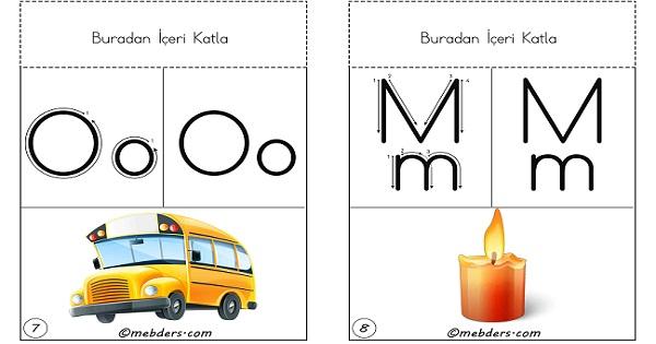 Duvara, panoya, ipe asmak için 2.grup harfler tam boy ses kartları