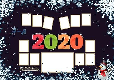 3A Sınıfı için 2020 Yeni Yıl Temalı Fotoğraflı Afiş (12 öğrencilik)