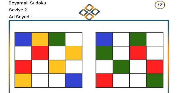 Boyamalı Sudoku 17