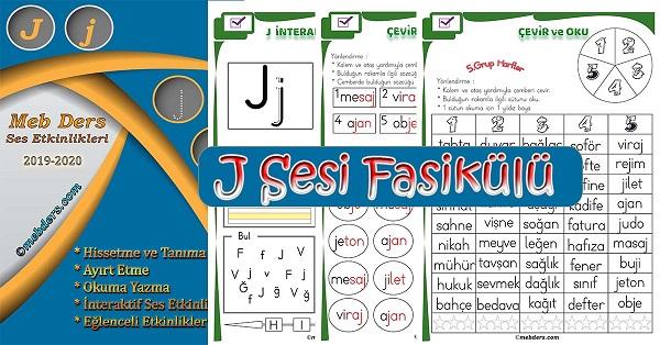 1.Sınıf İlkokuma J Sesi Fasikülü