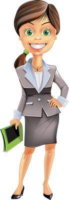 Clipart iş kadını gülen bayan resmi png
