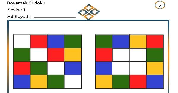 Boyamalı Sudoku 3