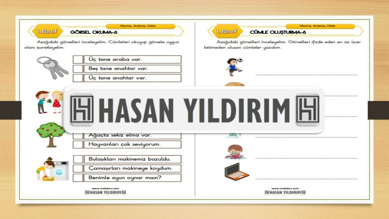 1.Sınıf Türkçe Görsel Okuma ve Cümle Oluşturma-6