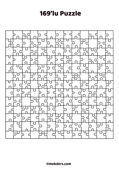 169'lu puzzle şablon