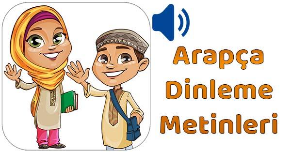 2019-2020 Yılı 6.Sınıf Arapça Dinleme Metinleri - Tüm Ses Dosyaları mp3 (MEB)