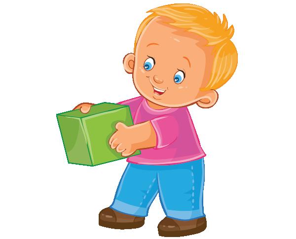 Clipart elinde küp tutan erkek çocuk resmi