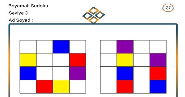 Boyamalı Sudoku 21