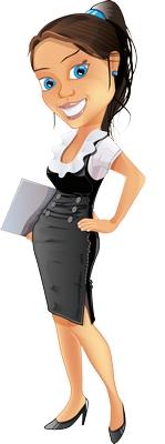 Clipart eli belinde gülen bayan resmi png