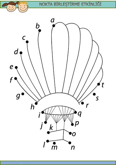 Balon harfli nokta birleştirme etkinliği