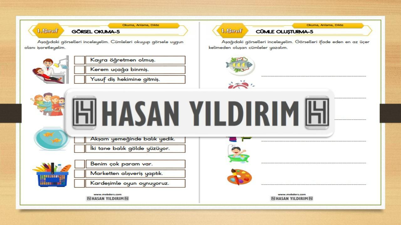 1.Sınıf Türkçe Görsel Okuma ve Cümle Oluşturma-5