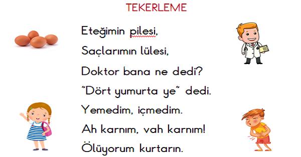 1.Sınıf Türkçe Okuma ve Yazma Etkinliği 4