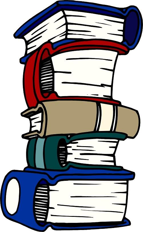 Üst üste dizilmiş kalın kitaplar resmi png