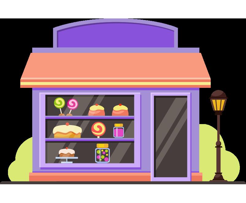 Pastane dükkanı bina resmi png