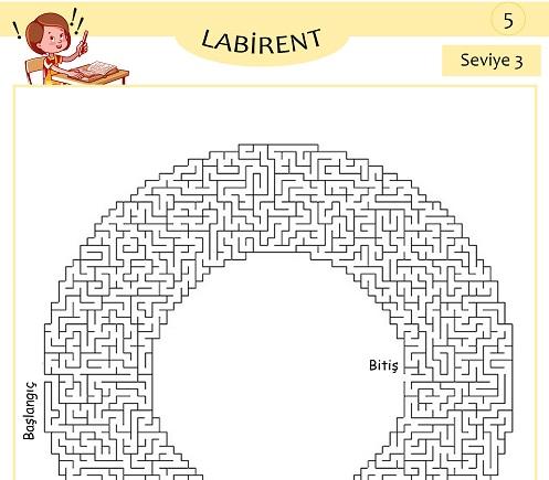 Seviye 3 - Labirent Bulmaca Etkinliği 5