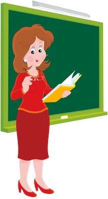 Clipart tahtada elinde kitap ders anlatan bayan öğretmen resmi png