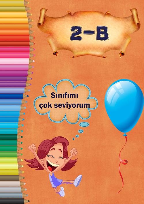 Model 6, 2B şubesi için kalemli ve kız çocuklu kapı süslemesi