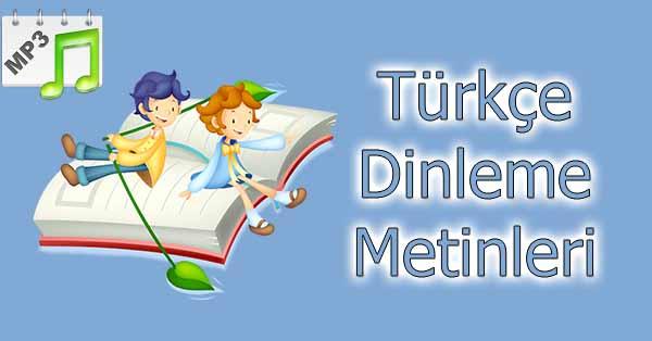 3.Sınıf Türkçe Dinleme Metni - Bir Anı mp3 - Meb Yayınları