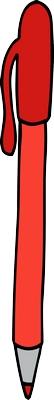Kırmızı tükenmez kalem png