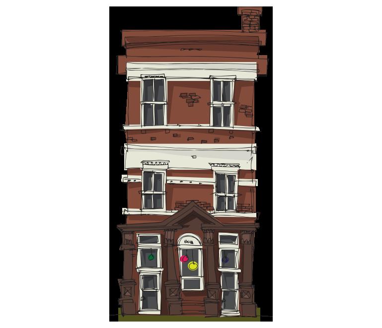 Karalama çizim iki katlı ev resmi png