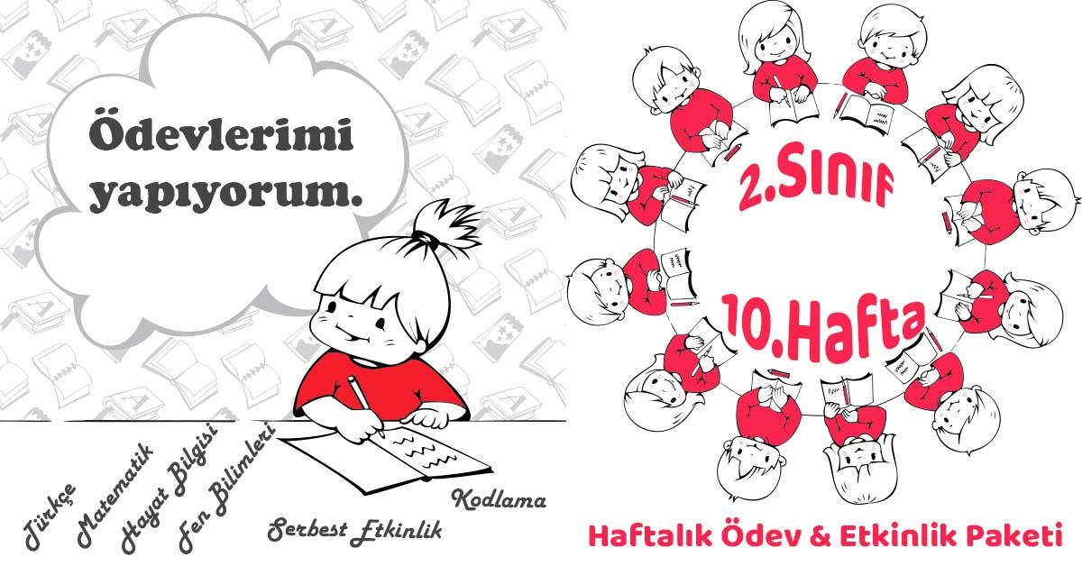 2019 2020 Yili 2 Sinif 10 Hafta Haftalik Odev Etkinlik Paketi
