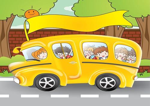 Model 51, Okul otobüsüyle kapı süslemesi