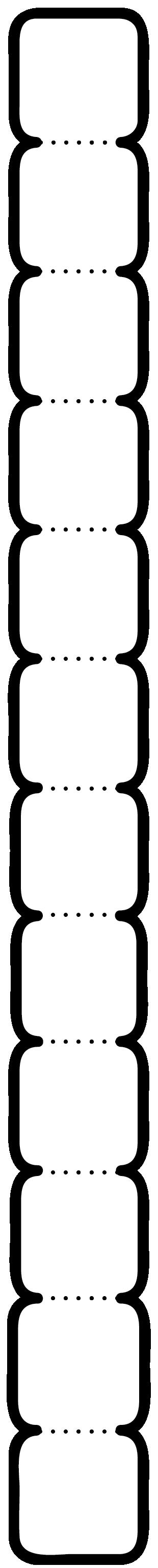 12'li Köşeleri yuvarlatılmış kare not yazma şablonu