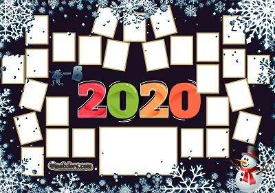 4B Sınıfı için 2020 Yeni Yıl Temalı Fotoğraflı Afiş (27 öğrencilik)