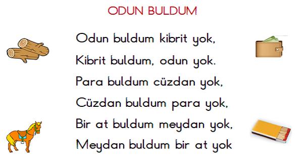 1.Sınıf Türkçe Okuma ve Yazma Etkinliği 5