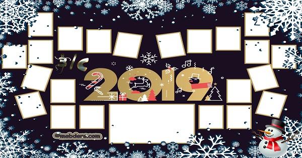 3C Sınıfı için 2019 Yeni Yıl Temalı Fotoğraflı Afiş (22 öğrencilik)