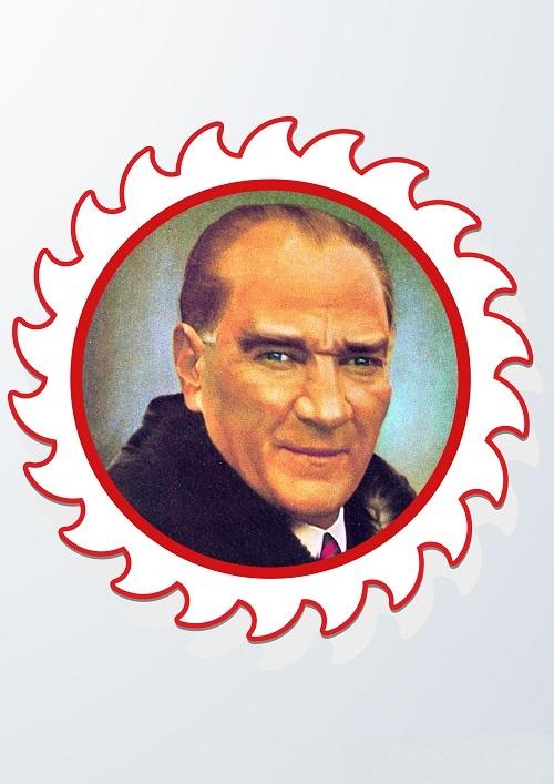 Panoya asmak için güneş temalı Atatürk fotoğrafları