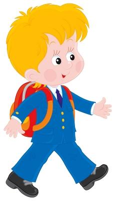 Clipart sırtındaki çantasıyla okula giden çocuk resmi png