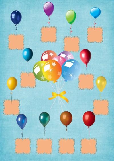 Model 12, Mavi fonda, balonlu fotoğraf eklemeli kapı süslemesi - 12 öğrencilik
