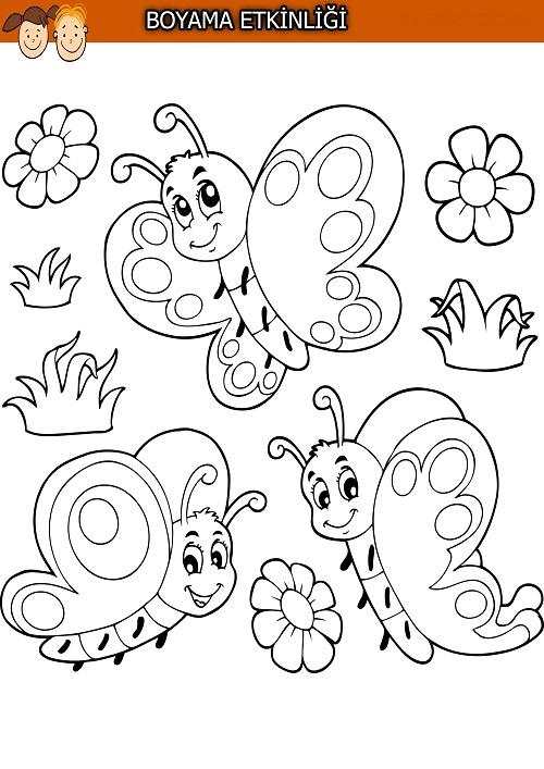 Kelebek boyama etkinliği