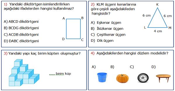 4.Sınıf Matematik 5.Ünite Değerlendirme Etkinliği