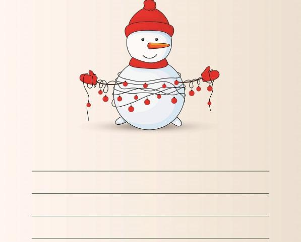 Kardan adamlı yazı şablonu