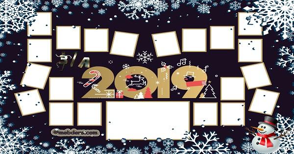 3A Sınıfı için 2019 Yeni Yıl Temalı Fotoğraflı Afiş (20 öğrencilik)