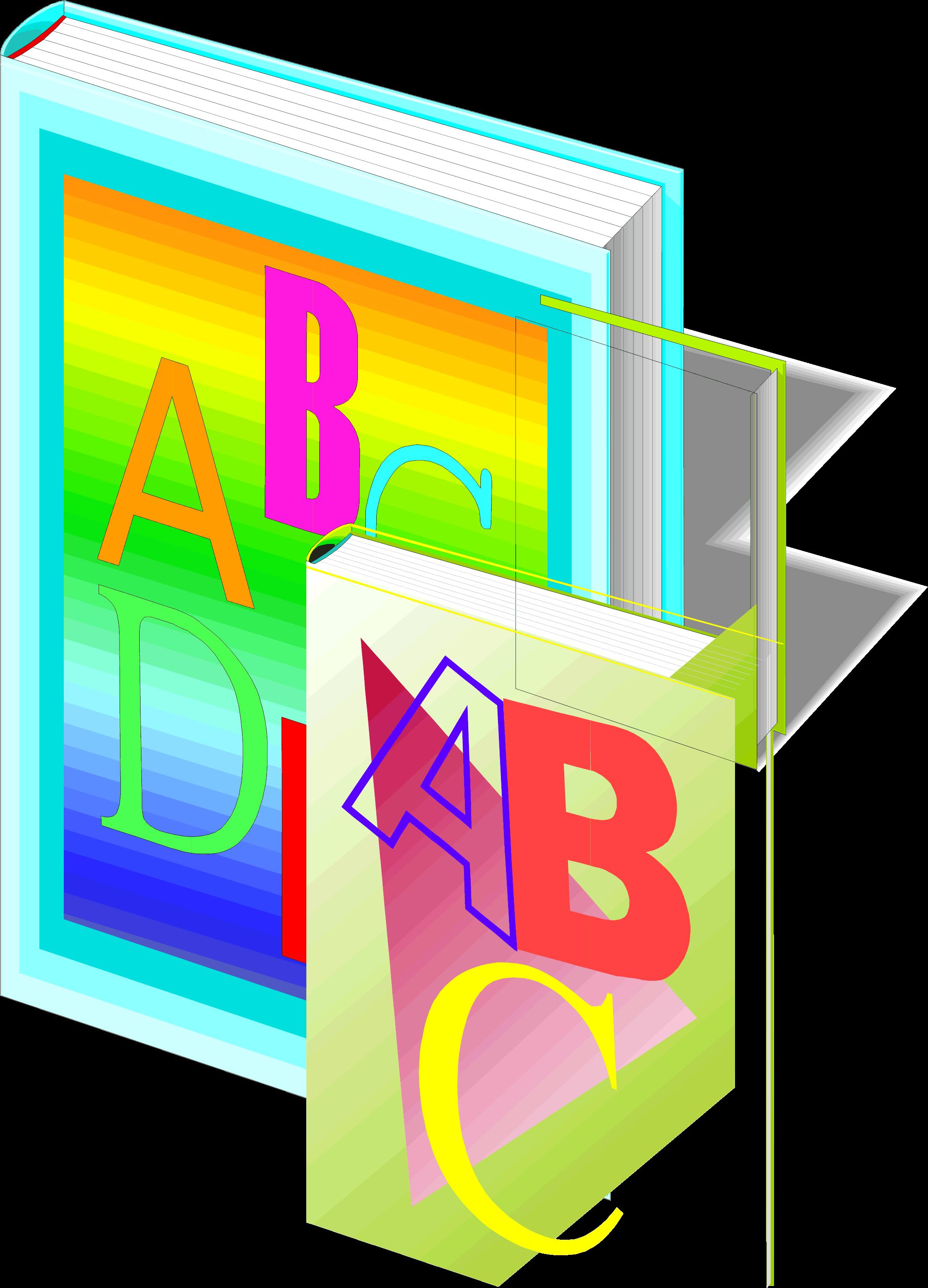 Harf yazılı kitap resmi png