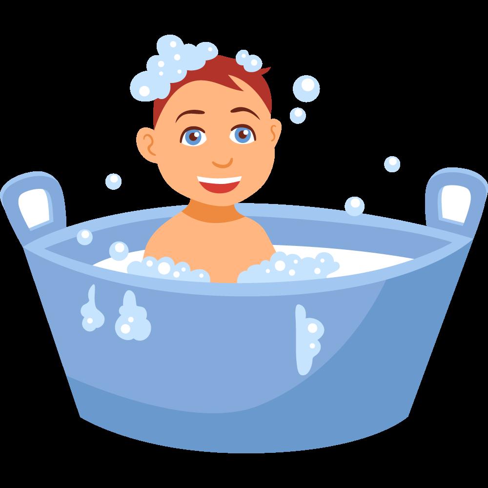 Clipart banyo yapan erkek çocuk resmi