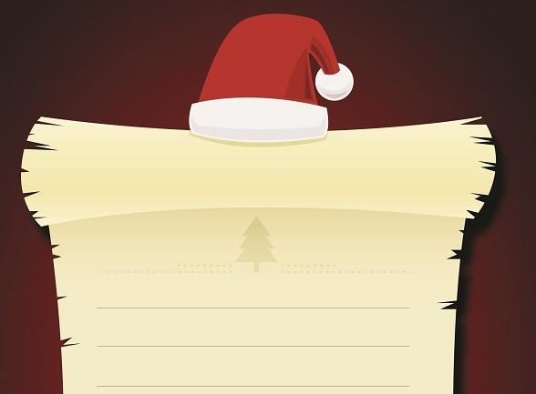 Yeni yıl temalı şapkalı yazı şablonu